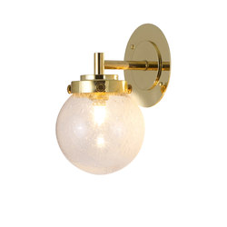 Mini Globe Wall Light, Seedy with Brass | Wall lights | Original BTC