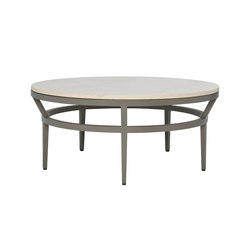 SLANT STONE TOP COCKTAIL TABLE ROUND 102 | Mesas de centro de jardín | JANUS et Cie