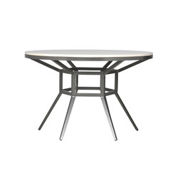 SLANT STONE TOP DINING TABLE ROUND 122 | Restaurant tables | JANUS et Cie