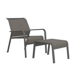 ZEPHYR LOUNGE CHAIR + OTTOMAN | Garden armchairs | JANUS et Cie