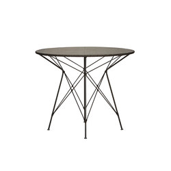 WHISK WOVEN TOP DINING TABLE ROUND 90 | Mesas para restaurantes | JANUS et Cie
