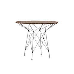 WHISK WOVEN TOP DINING TABLE ROUND 90 | Dining tables | JANUS et Cie
