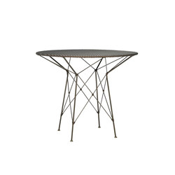 WHISK WOVEN TOP DINING TABLE ROUND 70 | Dining tables | JANUS et Cie