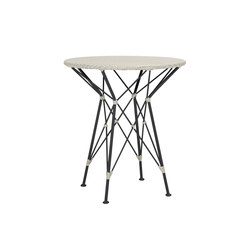 WHISK RATTAN WOVEN TOP SIDE TABLE ROUND 52 | Tavolini alti | JANUS et Cie