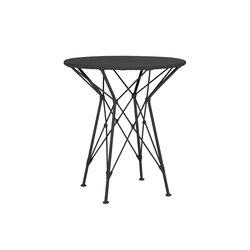 WHISK RATTAN WOVEN TOP SIDE TABLE ROUND 52 | Side tables | JANUS et Cie
