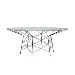 WHISK RATTAN GLASS TOP DINING TABLE ROUND 180 | Tavoli pranzo | JANUS et Cie