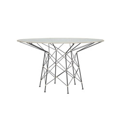 WHISK RATTAN GLASS TOP DINING TABLE ROUND 130 | Mesas comedor | JANUS et Cie