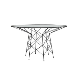 WHISK RATTAN GLASS TOP DINING TABLE ROUND 130 | Dining tables | JANUS et Cie