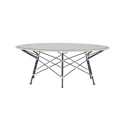 WHISK RATTAN GLASS TOP COCKTAIL TABLE ROUND 107 | Tables basses | JANUS et Cie
