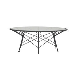 WHISK RATTAN GLASS TOP COCKTAIL TABLE ROUND 107 | Coffee tables | JANUS et Cie