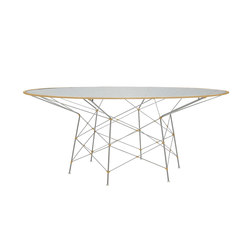 WHISK GLASS TOP DINING TABLE ROUND 180 | Tables de repas | JANUS et Cie