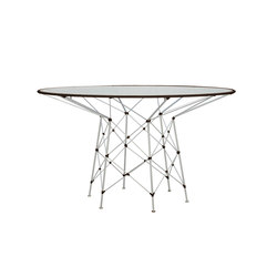 WHISK GLASS TOP DINING TABLE ROUND 130 | Mesas comedor | JANUS et Cie