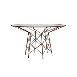 WHISK GLASS TOP DINING TABLE ROUND 130 | Dining tables | JANUS et Cie