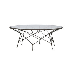 WHISK GLASS TOP COCKTAIL TABLE ROUND 107 | Tavolini bassi | JANUS et Cie