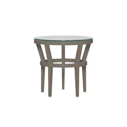 SLANT GLASS TOP SIDE TABLE ROUND 51 | Side tables | JANUS et Cie