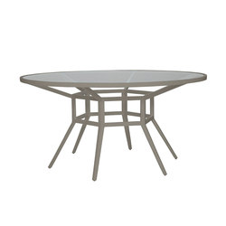 SLANT GLASS TOP DINING TABLE ROUND 153 | Restaurant tables | JANUS et Cie