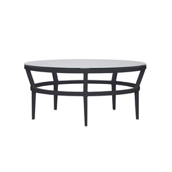 SLANT GLASS TOP COCKTAIL TABLE ROUND 102 | Coffee tables | JANUS et Cie