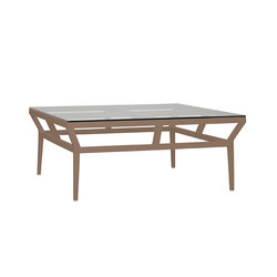 SLANT GLASS TOP COCKTAIL TABLE SQUARE 102 | Coffee tables | JANUS et Cie