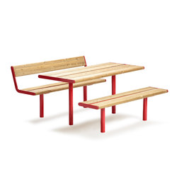 April bench & table | Benches with tables | Vestre
