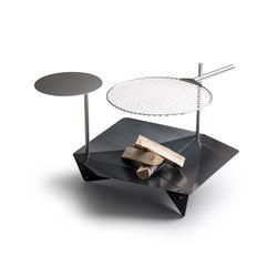 TRIPLE Tisch / Stange   Holzkohlegrills   höfats