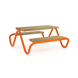 Hvilan double bench and table | Tables and benches | Vestre