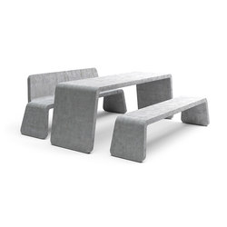 Kyoto table & bench | Benches with tables | Vestre