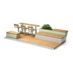 Parklet 2.0 | Mesas y bancos | Vestre