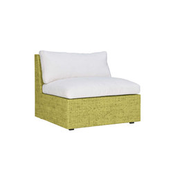 SEE! RATTAN CLOSED MODULE CENTER WIDE | Modular seating elements | JANUS et Cie