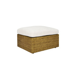 SEE! RATTAN CLOSED OTTOMAN / TABLE 66 | Poufs | JANUS et Cie