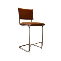 Irving brushed stainless steel barstool | Taburetes de bar | Jess