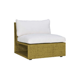 SEE! RATTAN OPEN MODULE CENTER WIDE | Modular seating elements | JANUS et Cie