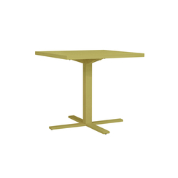 DUO CAFE TABLE SQUARE 78 | Tables de repas | JANUS et Cie