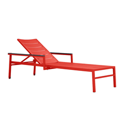 DUO CHAISE LOUNGE WITH ARMS | Sun loungers | JANUS et Cie