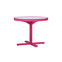 DUO GLASS TOP SIDE TABLE ROUND 53 | Tables de repas | JANUS et Cie