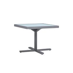 DUO GLASS TOP SIDE TABLE SQUARE 53   Tables de repas   JANUS et Cie