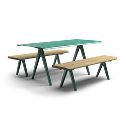 Nunu bench & table | Tables and benches | Vestre
