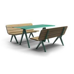 Nunu bench & table | Benches with tables | Vestre