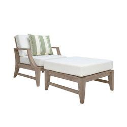 RELAIS LOUNGE CHAIR + OTTOMAN | Garden armchairs | JANUS et Cie