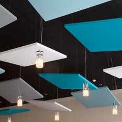 Stereo acoustic panels suspended | Sistemas de techos acústicos | Texaa®