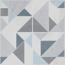 Amarcord Bianco | Decoro Squary Rettificato | Baldosas de cerámica | Rondine