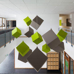 Abso acoustic cubes | Sound absorbing suspended panels | Texaa®