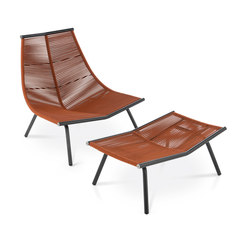 LAZE Lounge chair & stool | Sessel | Roda