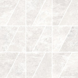 Ardesie White | Mosaico Trapezio | Keramik Mosaike | Rondine
