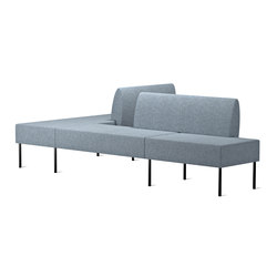Nestor Blue | Modular seating elements | Skandiform