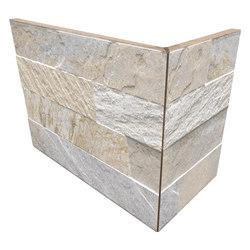 Cubics Beige | Angolo Esterno Incollato | Keramik Fliesen | Rondine