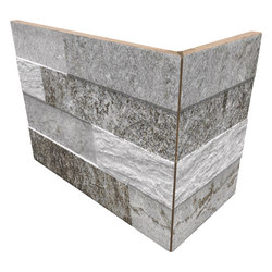 Cubics Grey | Angolo Esterno Incollato | Keramik Fliesen | Rondine