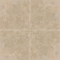 Elegance Volterra Beige | Rosone Gold Levigato | Ceramic tiles | Rondine