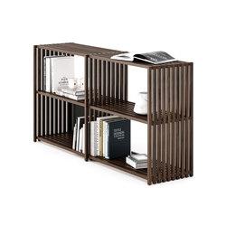 REBAR Sistema de estantería plegable nogal / aparador 2.2 | Estanterías de baño | Joval