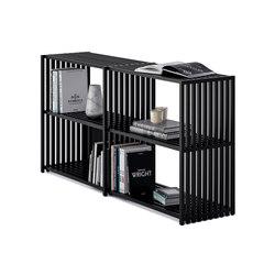 REBAR Sistema de estantería plegable Negro Negro / Aparador 2.2 | Estanterías de baño | Joval
