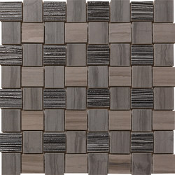 Georgette Dark Taupe | Weave | Mosaïques céramique | Rondine